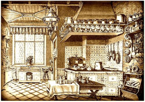 Edwardian Kitchen With Modern Appliances
